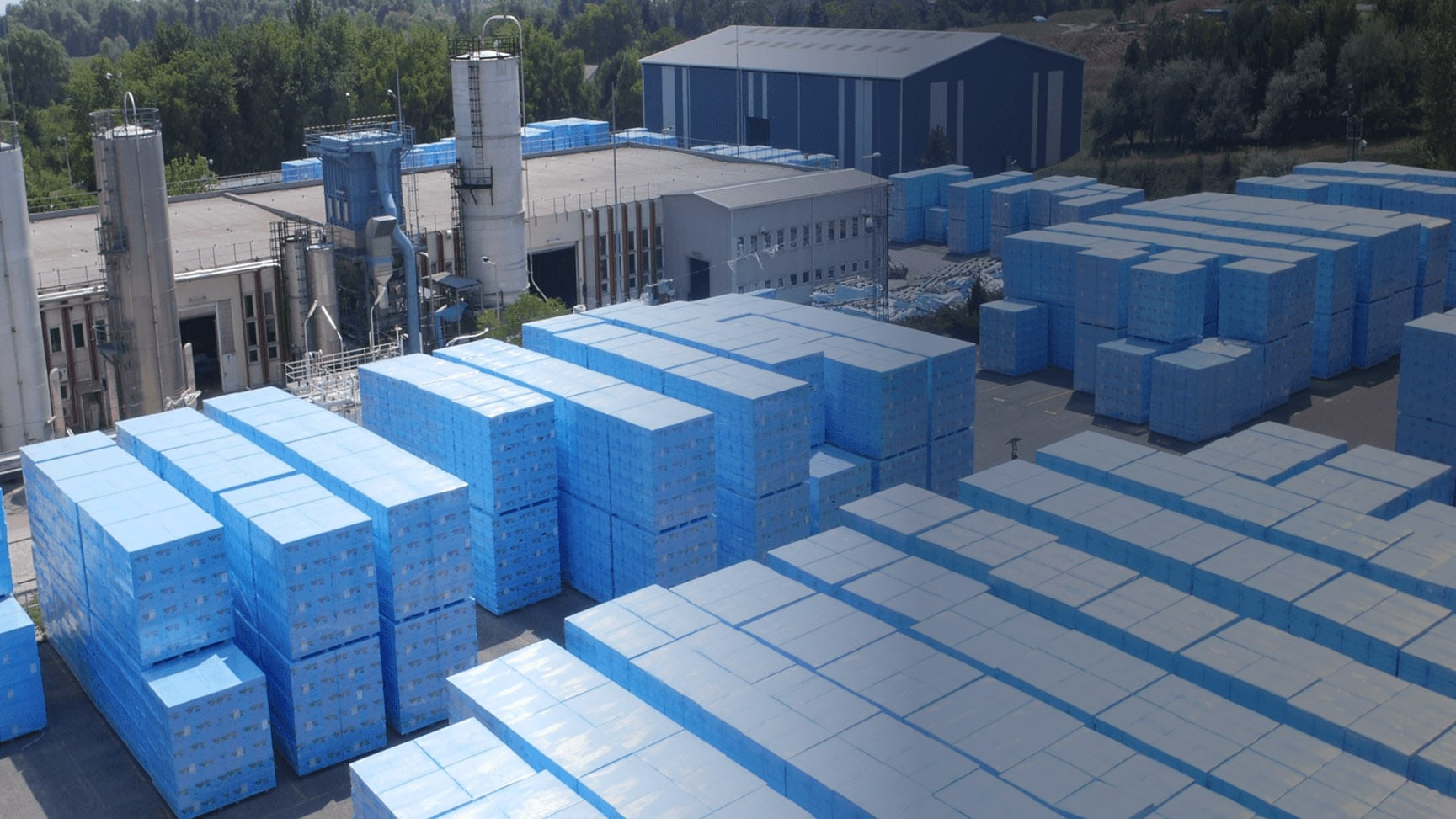 Warehouse and Factory at Ravago, where we manufacture, reprocess and distribute polymers across the world